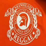 SKINHEAD REGGAE T-SHIRT ORANGE/WHITE
